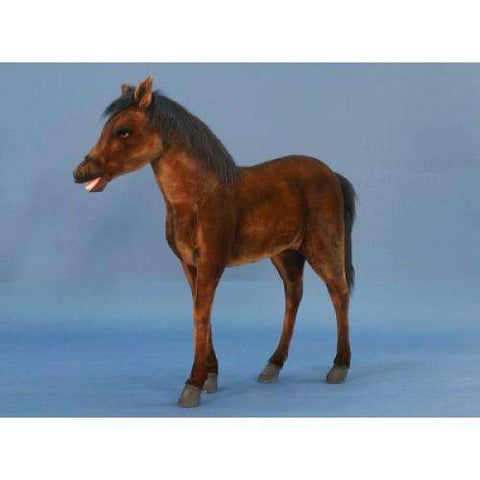 Hansa Creations 5448 Realistic Thoroughbred Foal 39 Inch Stuffed Animal Toy New