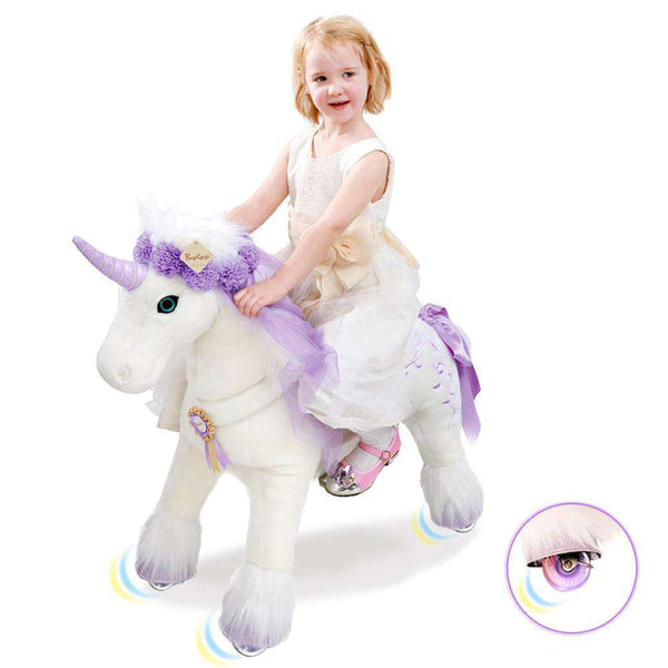 PonyCycle Vroom Rider X K Series VR-K41 Ride-On Unicorn White and Purple Medium New