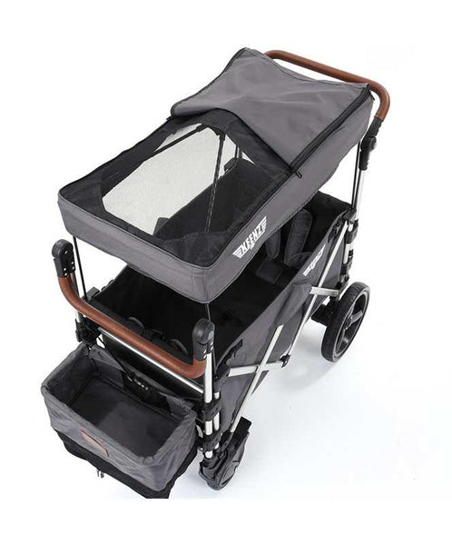 Keenz 7s 5-Point Harness Light Weight Stroller Wagon with Canopy Grey New