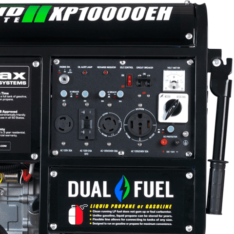DuroMax XP10000EH 8000W/10000W Dual Fuel 18 HP Electric Start Generator New