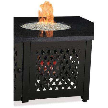 Blue Rhino GAD18100M Dual Heat LP Gas Outdoor Fire Table with Black Granite Mantel New