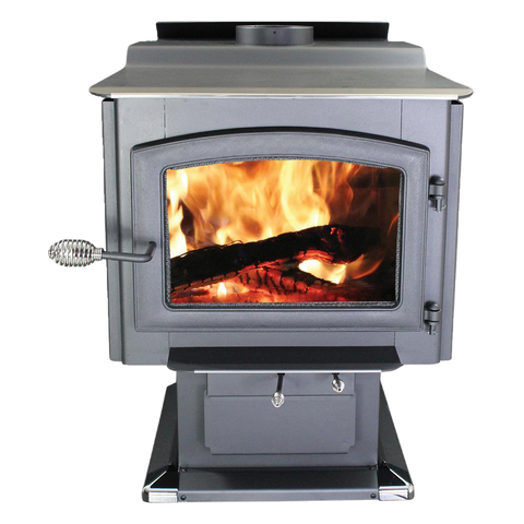 Ashley Hearth AW3200E-P EPA Certified 3,200 sq. ft. Large Pedestal Wood Stove with Blower New