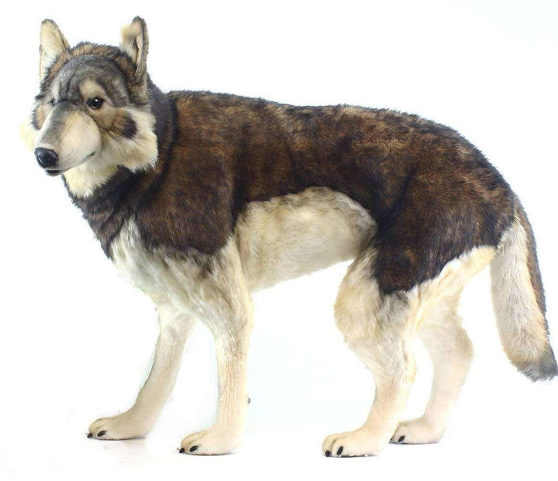 Hansa Creations 5496 Realistic Standing Timber Wolf 40 Inch  Stuffed Animal Toy New