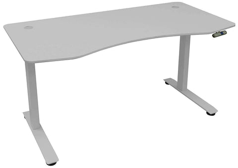MotionWise SDD60G Manager Height Programmable Adjustable Electric Standing Desk in Dove Gray New