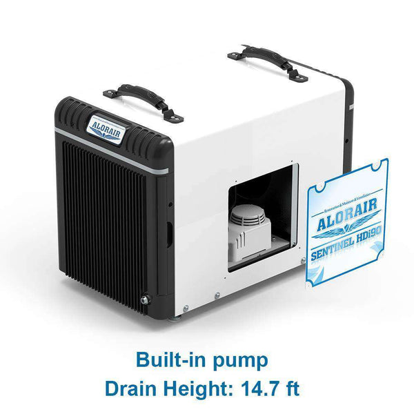 AlorAir HDi90 Sentinel Basement/Crawlspace Dehumidifier 90 Pints with Condensate Pump HGV Defrosting and Remote Monitoring New