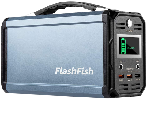 Flashfish 300W Portable Power Station 60000mah Solar Generator With 110V AC Outlet/DC 12V/QC USB Ports For CPAP Camp Travel New