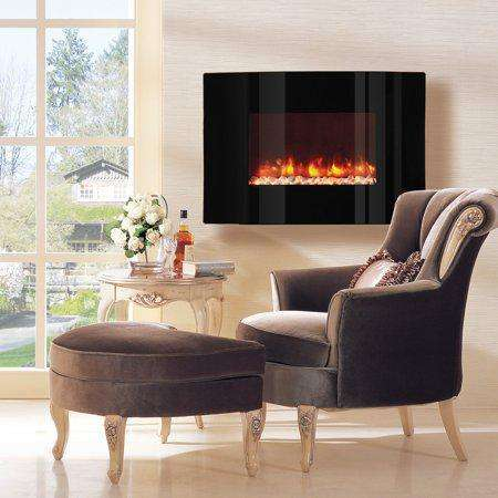 Dynasty EF67-CP 36 Inch Curved Wall Mount Electric LED Fireplace New