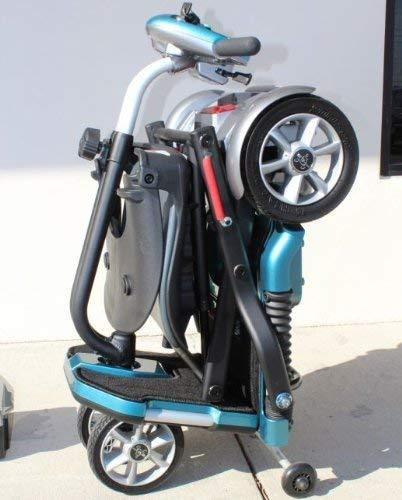 EV Rider Transport AF+ Automatic Folding Scooter Blue Open Box