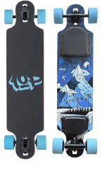 Ride1UP Slopestyle Drop-through Canadian Maple 30Ah LI-ION Samsung Dual Hub Motors Electric Skateboard New