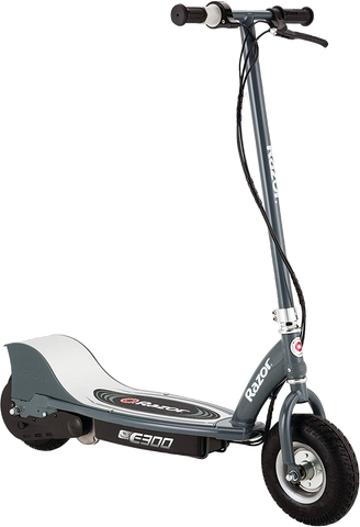 "Razor E300 Up to 10 Mile Range 15 MPH 9"" Tires Electric Scooter Gray New"