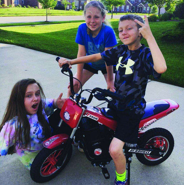 Burromax TT250 24V 250W Kids Off Road Electric Ride On Mini Pocket Dirt Bike Red New