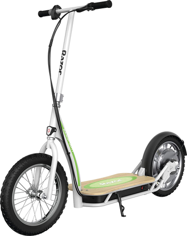 "Razor EcoSmart SUP Up to 12 Mile Range 15.5 MPH 16"" Tires Electric Scooter White New"