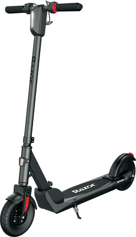 "Razor E Prime III Up to 15 Mile Range 8"" Tires Electric Scooter Foldable Grey New"