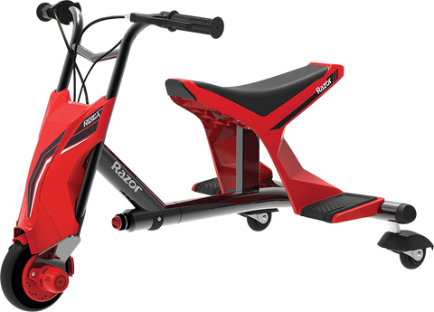 Razor Drift Rider Up To 40 Minute Run Time 9 MPH Electric Cycle Red Black New