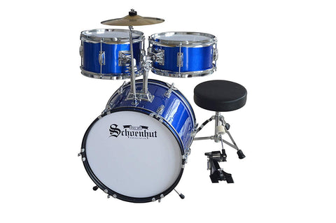 Schoenhut C1030 5-Piece Children's Drum Set with Throne Pedal and Sticks Blue New
