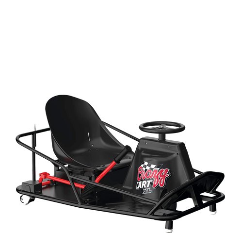 Razor Crazy Cart XL Up To 40 Minute Run Time 14 MPH Electric Drifting Go Kart Black New