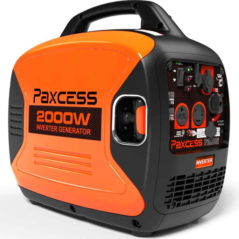 Paxcess P2000i 1600W/2000W Super Quiet Portable Gas Inverter Generator New