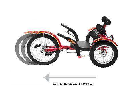 Mobo Triton Cruiser TRI-201R Kid Mobito 16 in Three Wheel Recumbent Bicycle Red New