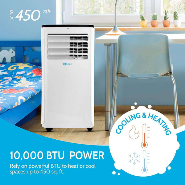 Rollibot Rollicool COOL208 10000 BTU Portable Smart Alexa Enabled Air Conditioner with Heater Dehumidifier and Fan New