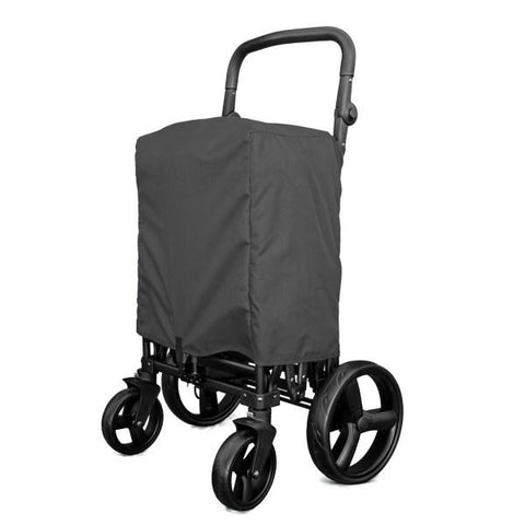 WonderFold Baby X2 Push/Pull 2-Passenger Double Stroller Wagon Grey New