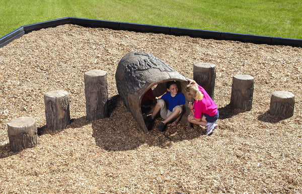 UltraPlay 4LT 4' Log Tunnel NatureROCKS Playset New