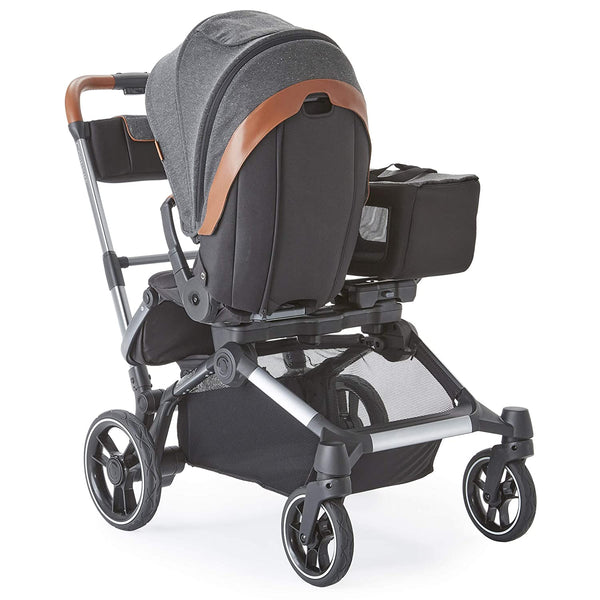 Contours ZL032-STR1 Element Side by Side 2 in 1 Convertible Stroller Grey New