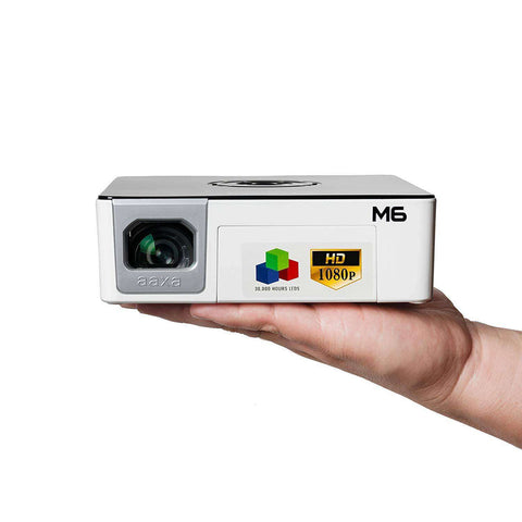 AAXA M6 HD 1080p DLP Portable Mini Pico Projector with Stereo Speakers 1200 Lumens New