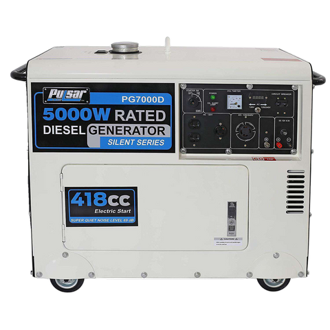 Pulsar PG7000D 5000W/5500W Diesel Electric Start Portable Generator New