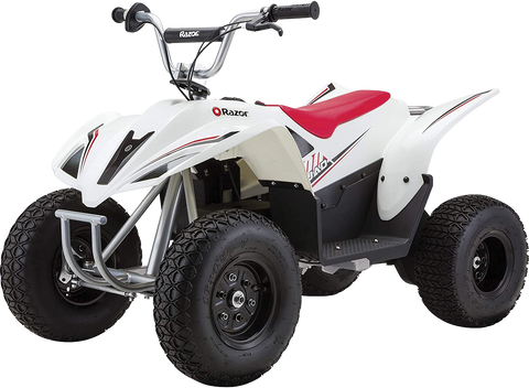 Razor Dirt Quad 500 Up To 68 Minute Run Time 9 MPH Electric 4-Wheeler ATV White New