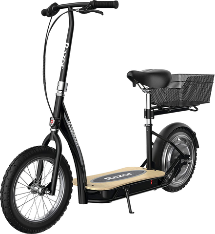 "Razor EcoSmart Metro HD Up to 12 Mile Range 15.5 MPH 16"" Tires Electric Scooter Black New"