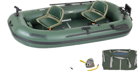 Sea Eagle Stealth Stalker STS10 Inflatable Portable Frameless Fishing Boat Pro Package Green New
