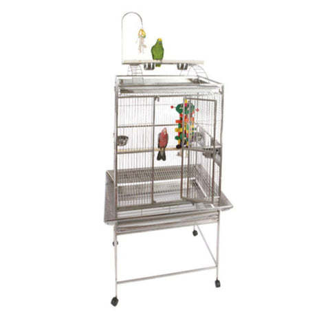 A&E Cage Co 8003223-SS Stainless Steel Large 32W x 24D x 30H in Playtop Bird Cage New