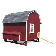 Little Cottage Company 6 ft. x 8 ft. Gambrel Barn Chicken Coop Large DIY Kit New