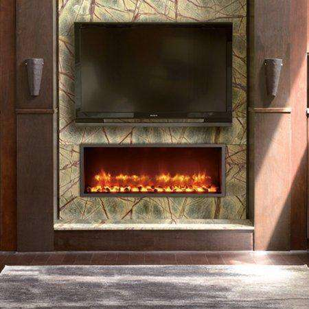 Dynasty DY-BT35 35 Inch Built In Wall Mount Linear Electric LED Fireplace New