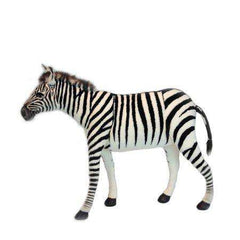 Hansa Creations 6586 Realistic Seated Zebra 30 Inch Stuffed Animal Toy New