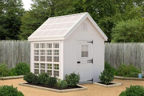 Little Cottage Company 8 ft. x 8 ft. Colonial Gable Greenhouse DIY Kit New