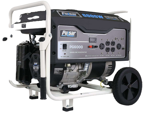 Pulsar PG6000 5000W/6000W Gas Electric Start Portable Generator New