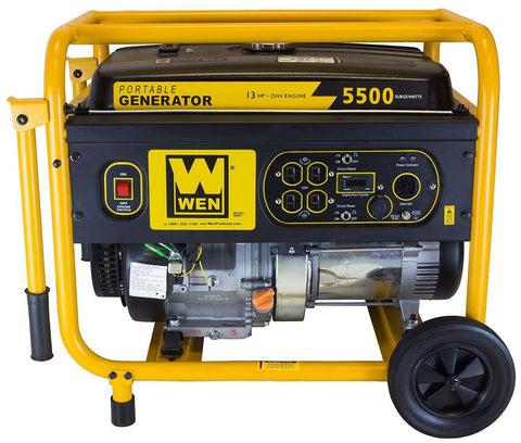 WEN 56551 5500W/5000W Portable Gas Generator with Wheel Kit New
