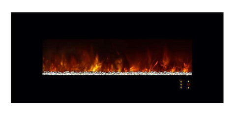 "Modern Flames Ambiance CLX2 60"" Electric Fireplace w/Black Glassface"