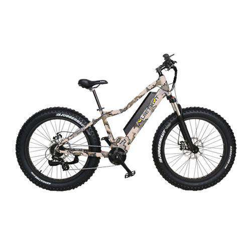 "QuietKat 18QKM750CCHM-LT-CAM Zion 750W 48V 26"" Electric Hunting Fishing Bike New"
