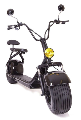 eDrift UH-ES295 2.0 Electric Fat Tire Scooter Moped with Shocks 2000w Hub Motor 30Ah 65 Mile Range Harley E-Bike New
