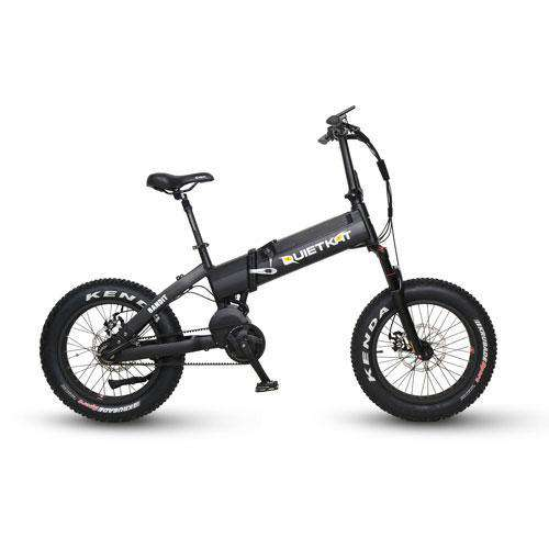 "QuietKat 18QKFM750BHRM-BLK Bandit 750W 48V 20"" Folding Electric Hunting Fishing Bike New"