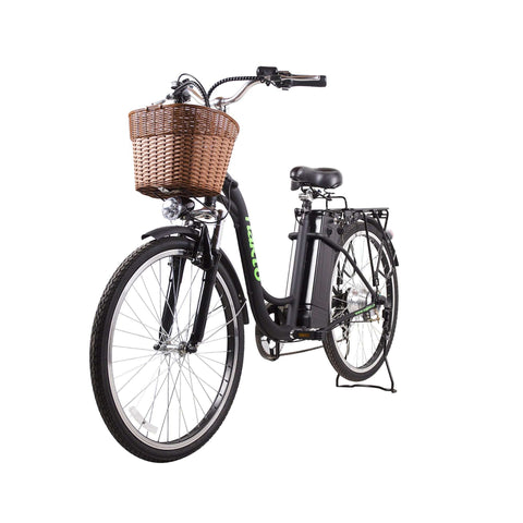 NAKTO 26 inch 250W Camel Electric Bicycle 6 Speed E-Bike 36V Lithium Battery Female/Young Adult Black New