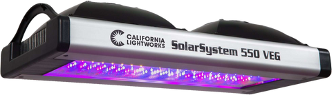 California Lightworks SolarSystem SS550VEG 550 LED Grow Light Vegetative Spectrum New