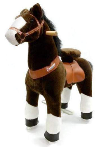 PonyCycle Vroom Rider U Series U321 Ride-on Dark Brown with White Hoof Small New