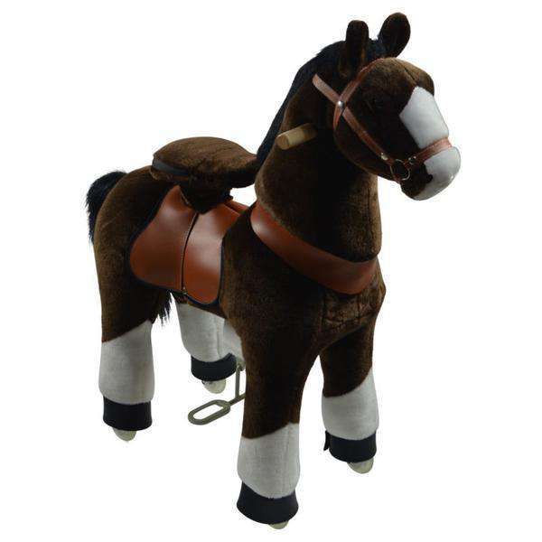 PonyCycle Vroom Rider U Series U421 Ride-on Dark Brown with White Hoof Large New