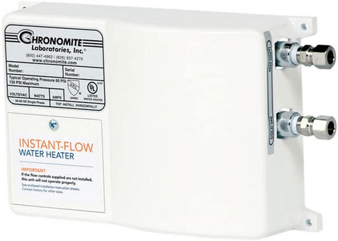 Chronomite SR-30L/120 Instant-Flow Point of Use Electric Tankless Water Heater New