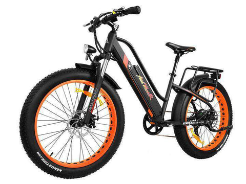 Addmotor MOTAN M-450 500 WATT 48V Step Through Full Suspension Fat Tire Electric Bike Orange New