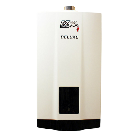 EZ Tankless EZDELUXENG 4.4 GPM 87500 BTU Natural Gas Indoor Tankless Water Heater with Vent Kit New