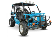 Kandi KD-200GKH-2A 200cc Off-Road 2-Seat Front Suspension 4-Wheeler Gas Go Kart Blue New